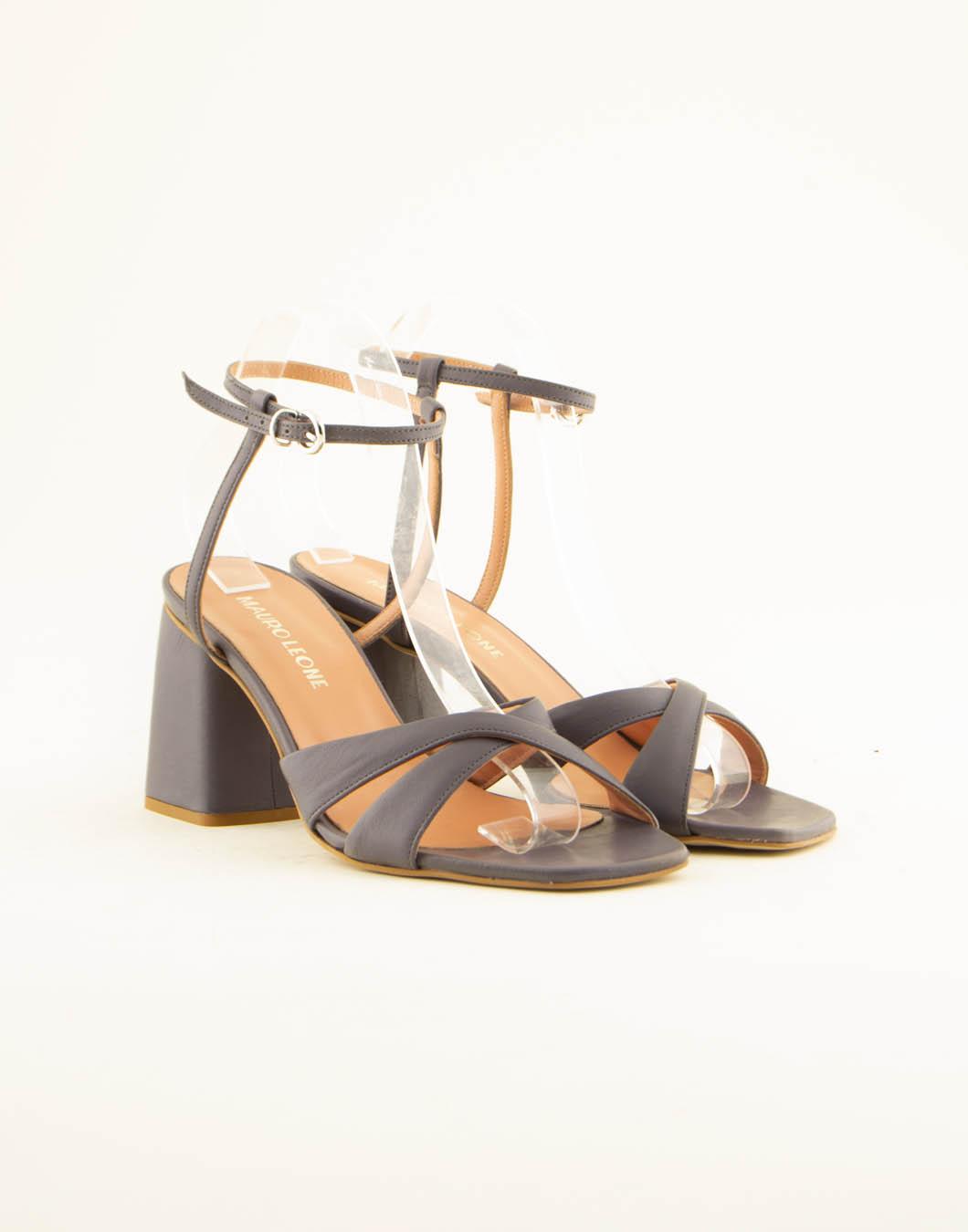 Sandali con il tacco in pelle - MAURO LEONE