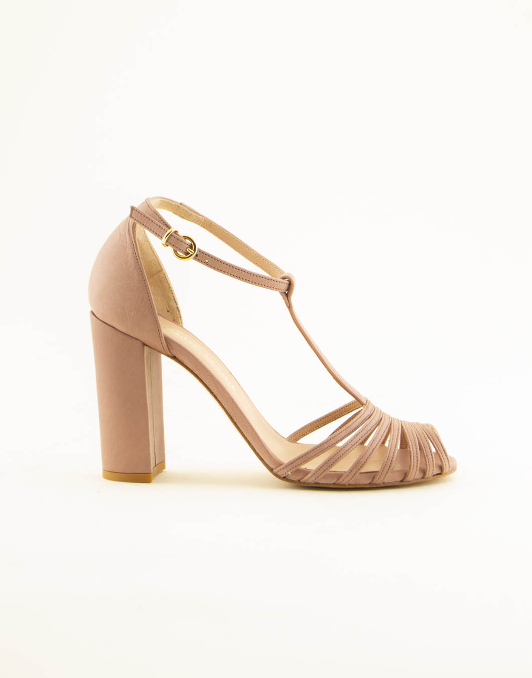 Sandali con tacco in pelle - MAURO LEONE