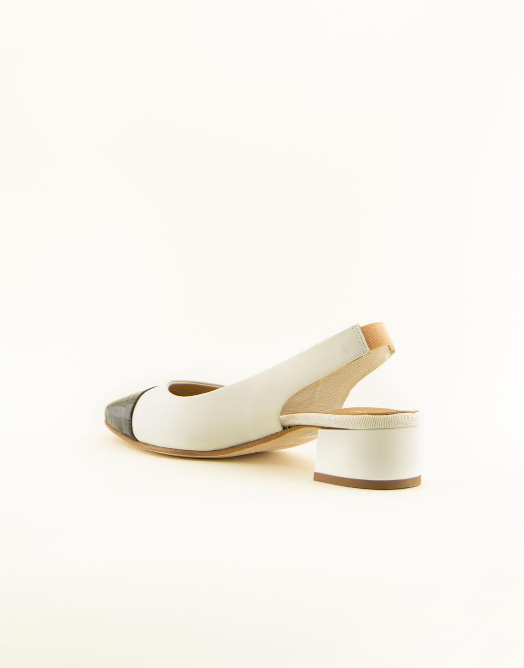Scarpe chanel con il tacco in pelle - MAURO LEONE